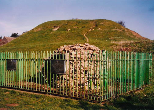 Fotheringhay Mound. Photo by Juliet Wilson