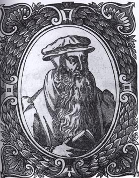 Only surviving portrait of John Knox, a woodcut by Theodore Beza