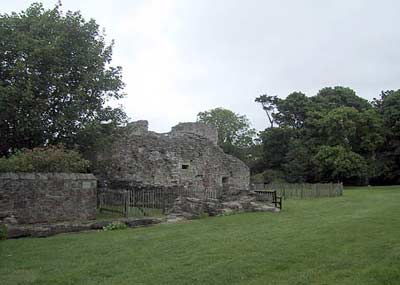 Ruins of the Chapter House, all that is left of the abbey to the left of the former church
