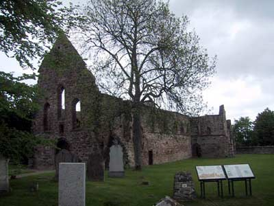 West front of Beauly Priory, rebuilt by Prior Reid between 1530 and 1558