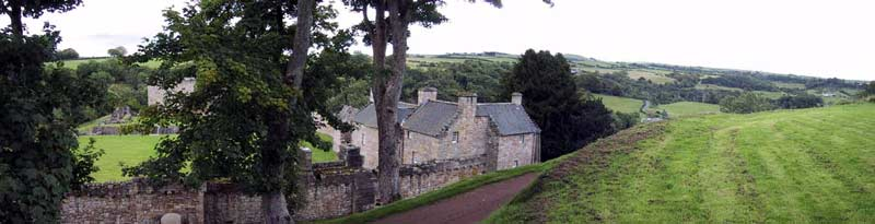 First approach to the outer courtyard of Craignethan Castle