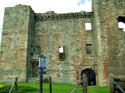 Main entrance to Crichton Castle