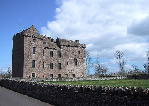 Approach to Huntingtower Castle