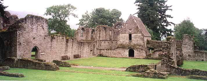 Inside of Inchmahome Priory