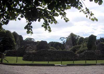 One side of the castle from the carpark