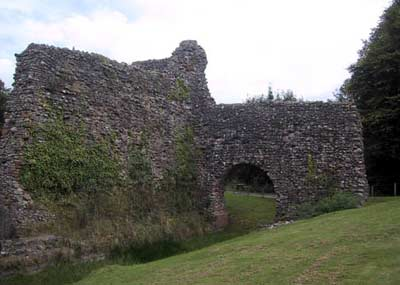 Remains of the inner moat and tower