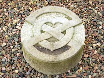 Heart Casket on the grounds of Melrose Abbey