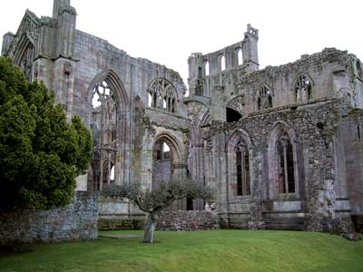 Outside view of the north transept of the church