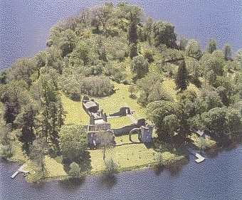 Menteith Island aerial view