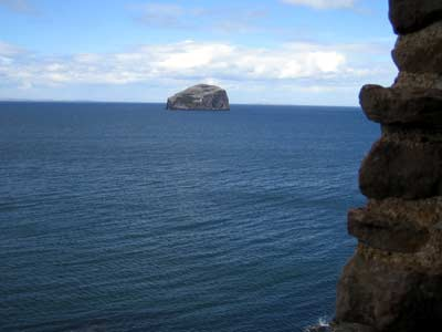The Bass Rock in the distance